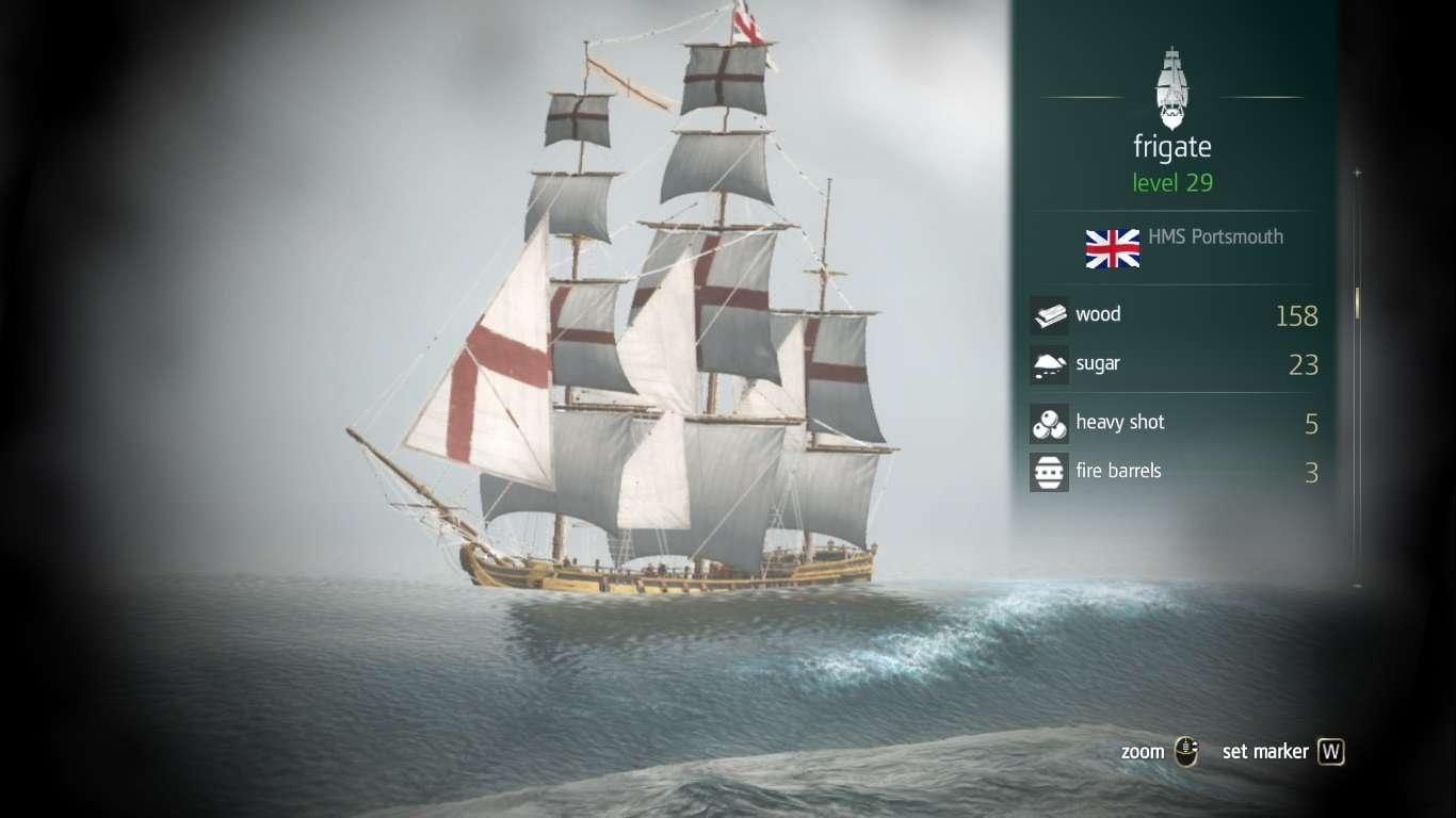 Assassin's creed 4 ship types